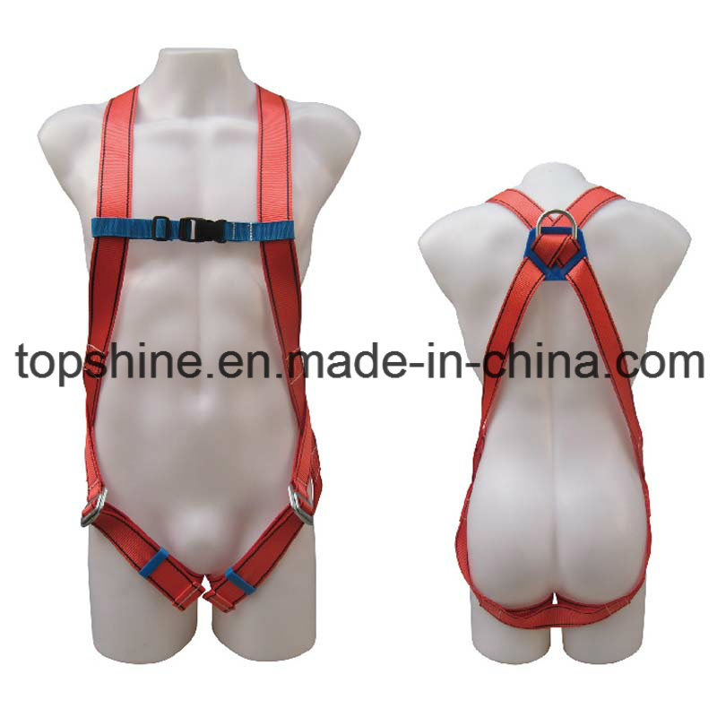 Good Quality Professional Industrial Polyester Adjustable Full-Body Harness Safety Belt