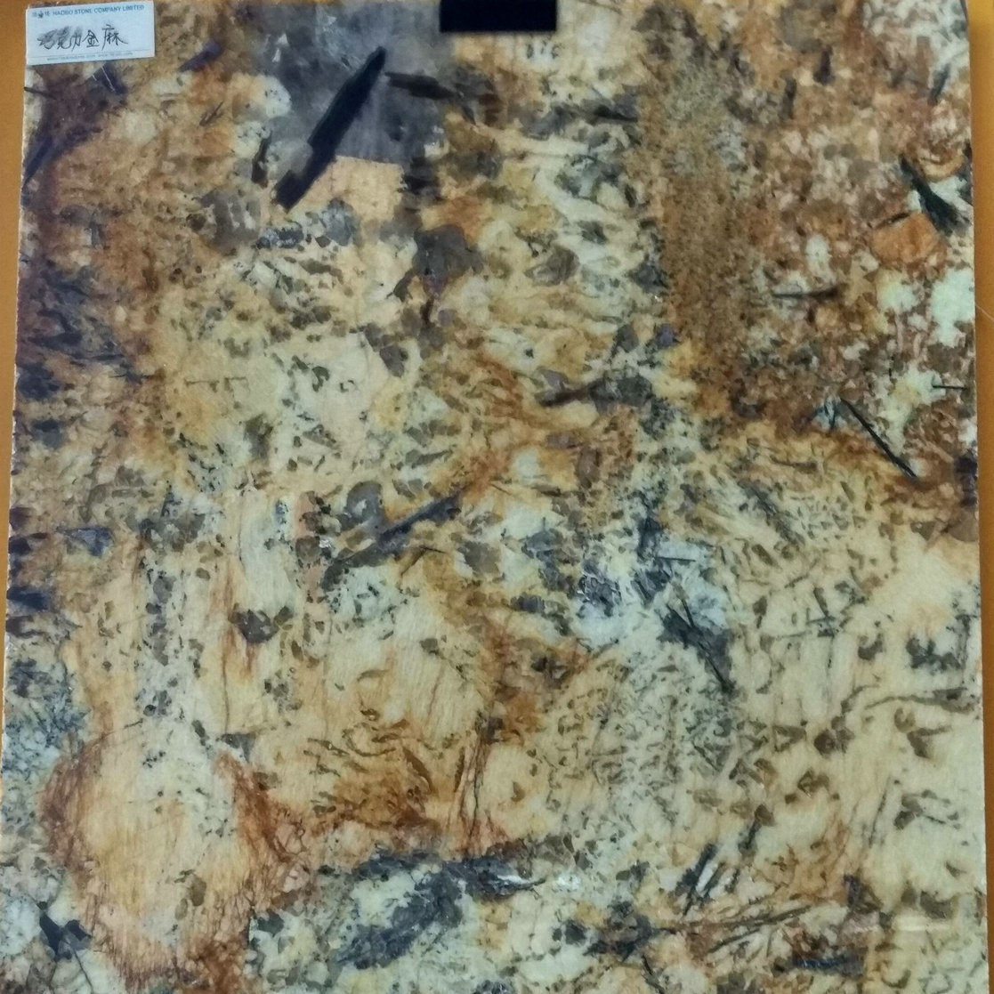 Solid Color Chocolate Gold Granite Slabs for Countertops