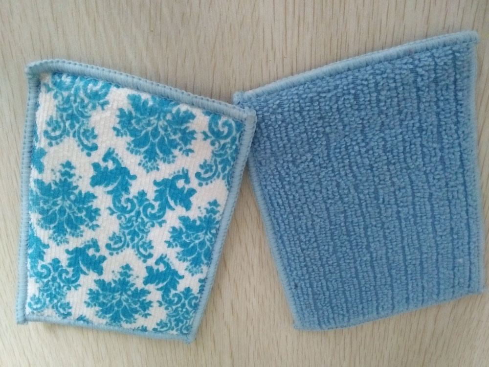 Kitchen Cleaning Sponge with Microfiber Cloth