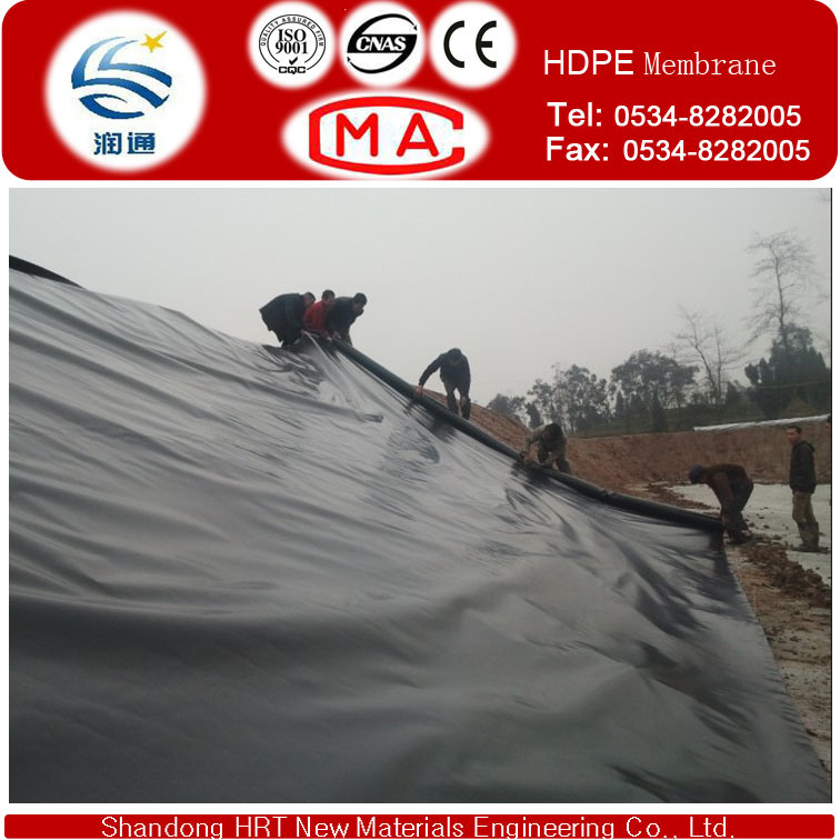 Black or Transparent HDPE Membrane as Liner for Fish and Shirmp Pond, ASTM