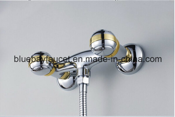 Dual Handle Chrome Plating Brass Shower Mixer Taps