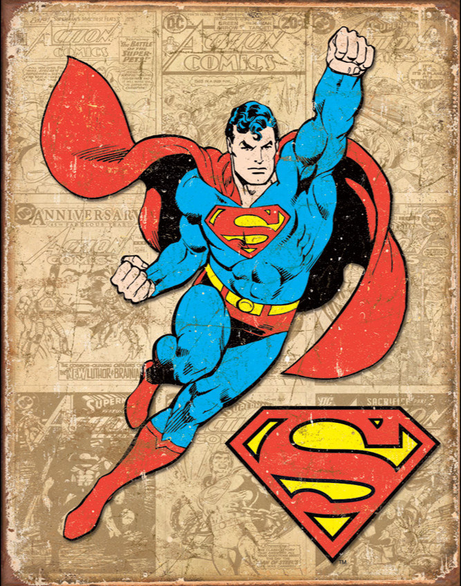 Hotsale Super Man Metin Tin Sign with Custom Printing