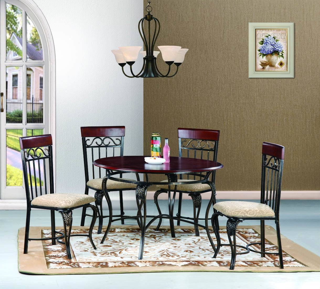 2275 Metal Dining Set
