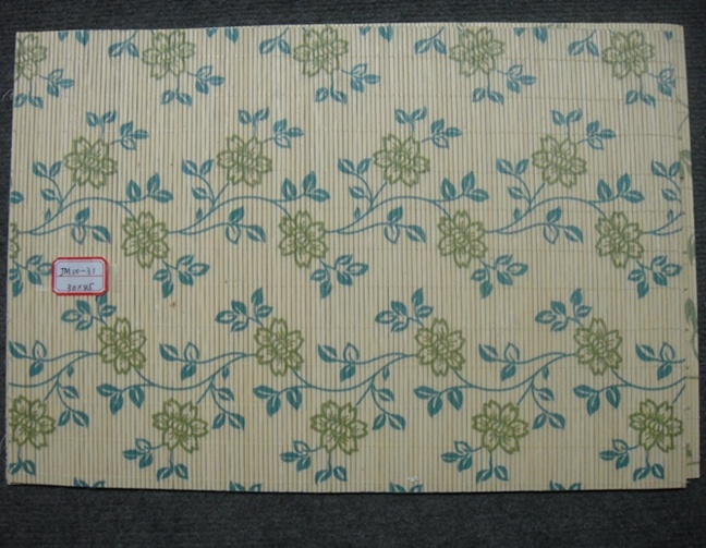 (BC-M1031) Handmade Natural Bamboo Rectangle Heat Insulation Placemat