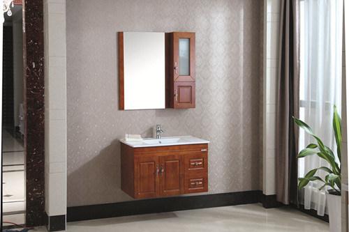 Chinese Cabinet Series Multi-Drawer Oak Bathroom Vanity Cabinet