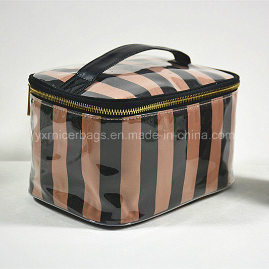 2016 High Quality Satin Coated with PVC Zippered Cosmetic Bag