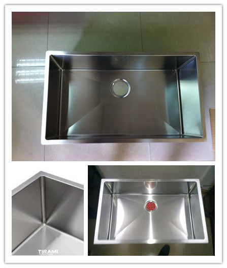 Stainless Steel Handmade Sink, Undermount Single Large Bowl Kitchen Basin Hmss3017