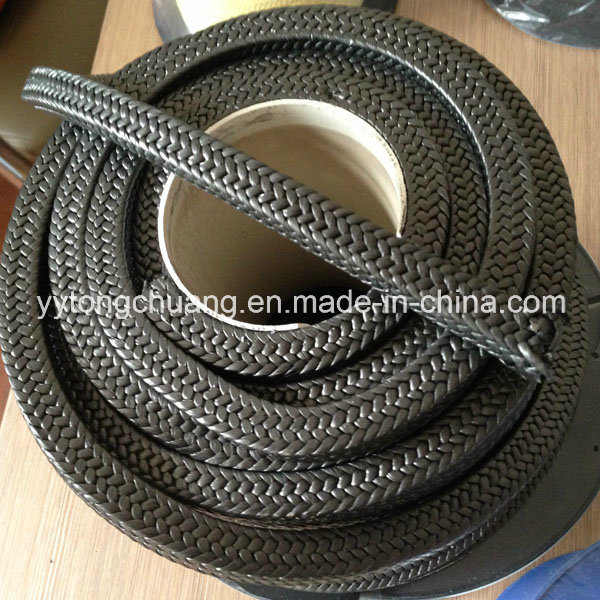 Black PTFE Braided Packing with Graphite