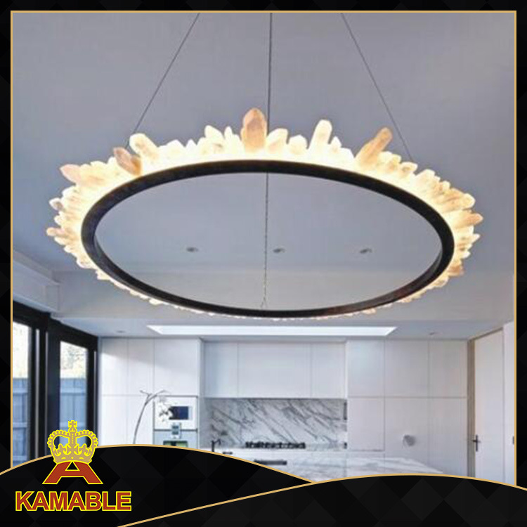 Dining Room Round Shape Custom-Made Crystal Hanging Lamp (KAP6090)