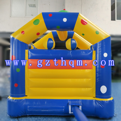 Clown Children′s Castle Inflatable Jump Bed/Lovely Commercial Inflatable Bouncer Castle for Adult