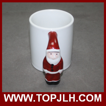 Gift Sublimation Ceramic Special Handle White Mug