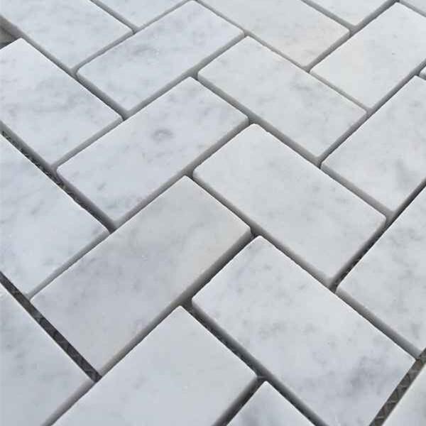 The Carrara White Bianco Marble Mosaic Wall Tile