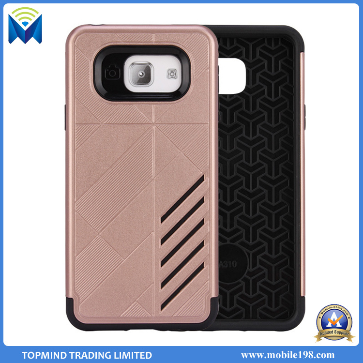 Cell Phone Luxury Hybrid Heavy Duty Shockproof Full-Body Protective Case with Dual Layer Hard PC+Soft TPU Impact Protection for Samsung Galaxy J7 Prime