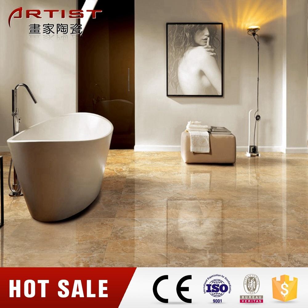 Guangzhou Tarsus Beige Porcelain Tile for Bathroom Floor Tile