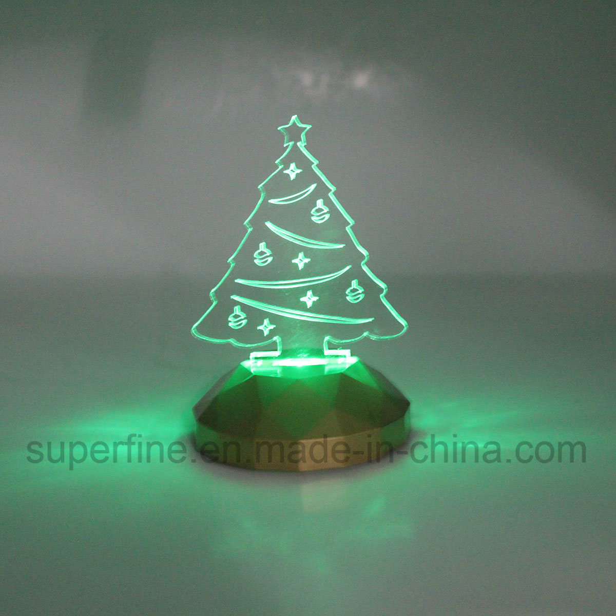 Cute Flameless Romantic Color Changing Magic Electric Customized Christmas Acrylic LED Light