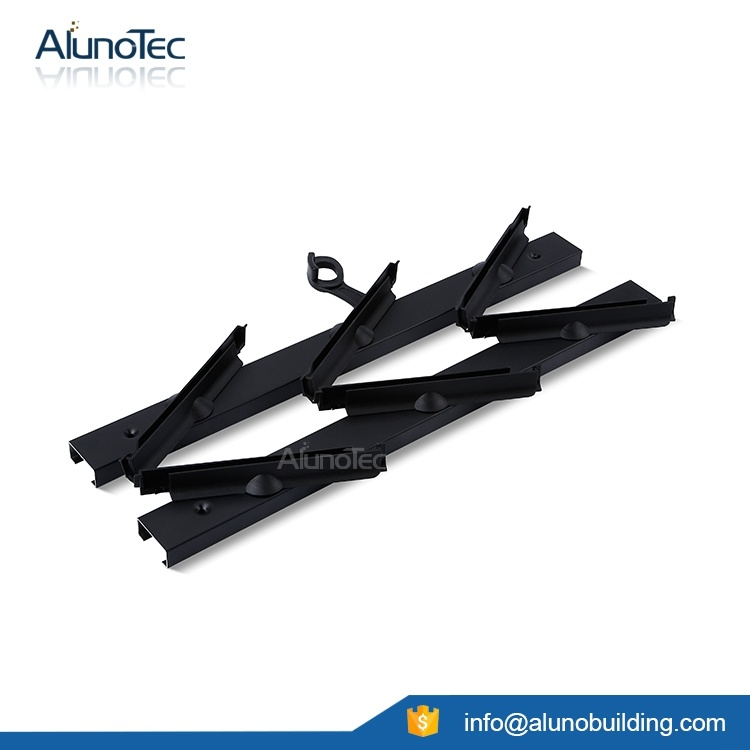 China Aluminum Plastic Louver Frame with 6 Inch Clips