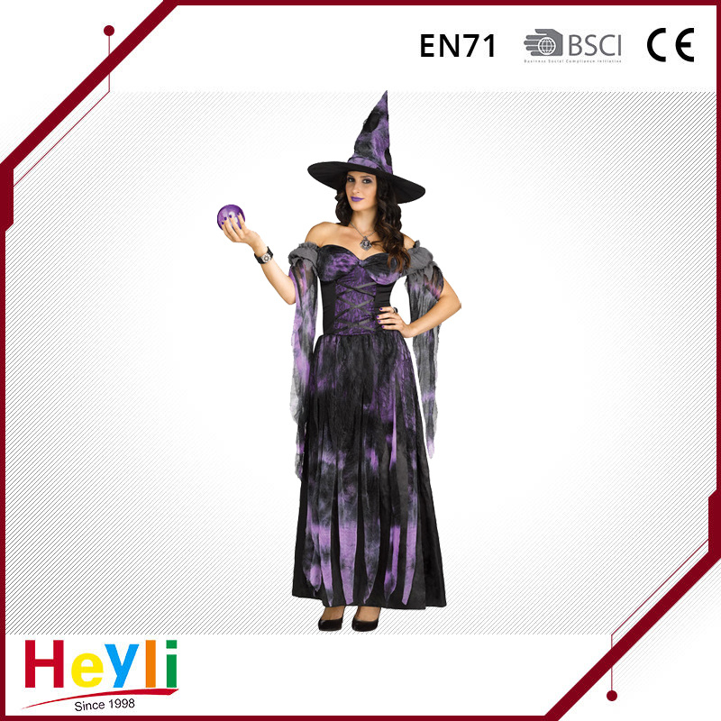 Halloween Party Witch Cosplay Costume for Adult