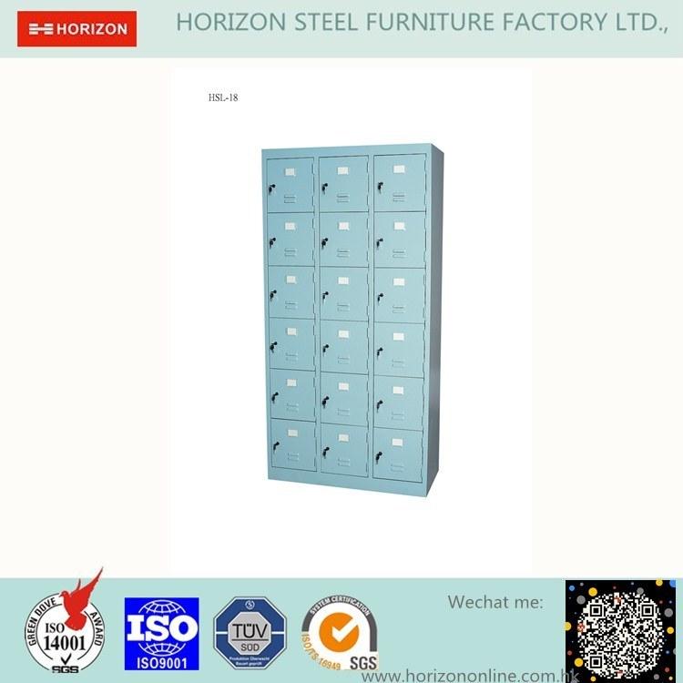 18 Doors Locker with 3 Bays 6 Tiers