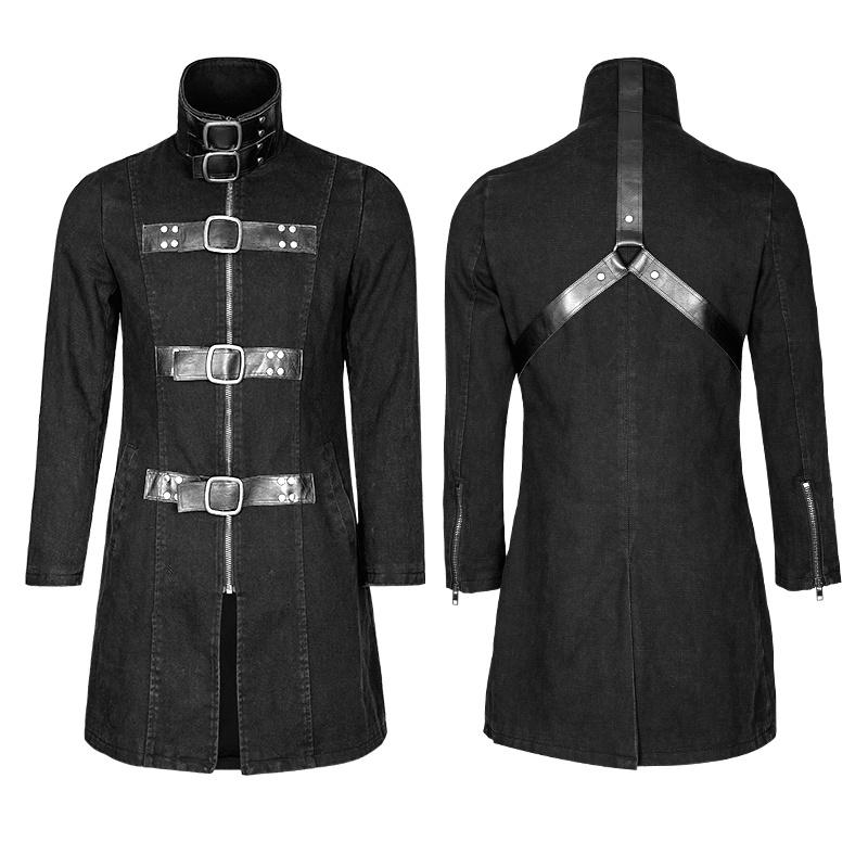 Y-749 Heavy Punk Multiple Loops Denim Simple Stylish Jacket