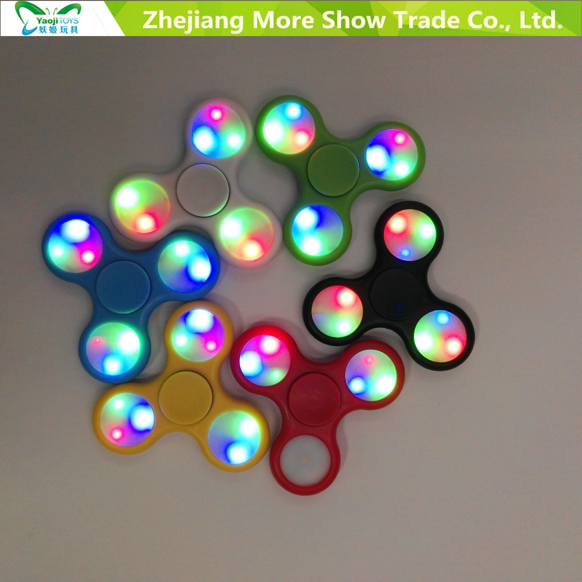 Fast Bearings LED Light Finger Fidget Hand Spinner Fidget Toys