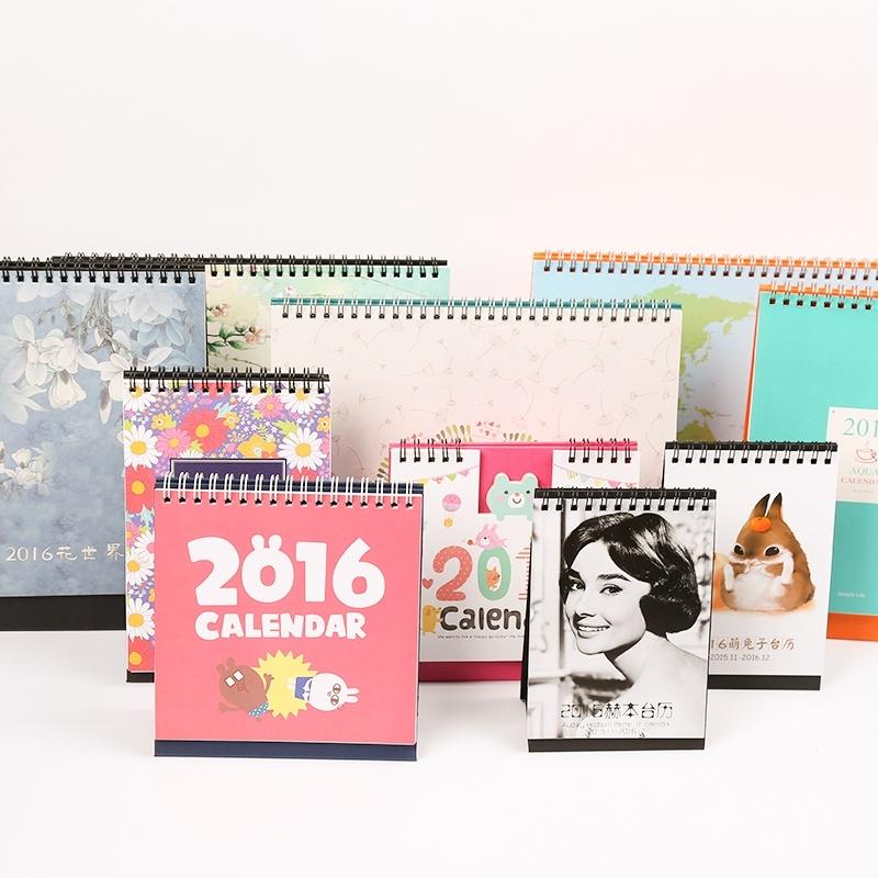2017 New Design Calendar Customized Desk Calendar Printing