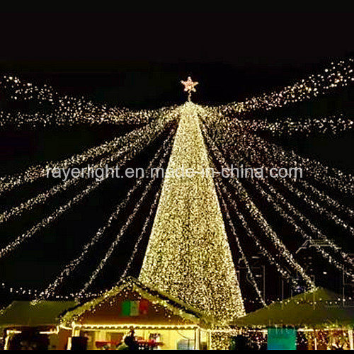 LED Cone Motif Light Outdoor Christmas Tree Decoration