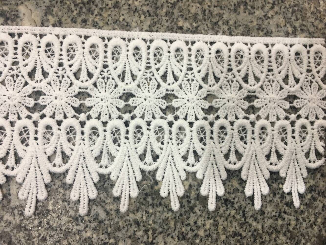 High Quolity Milky Poly Timming Lace for Garments and Home Textile