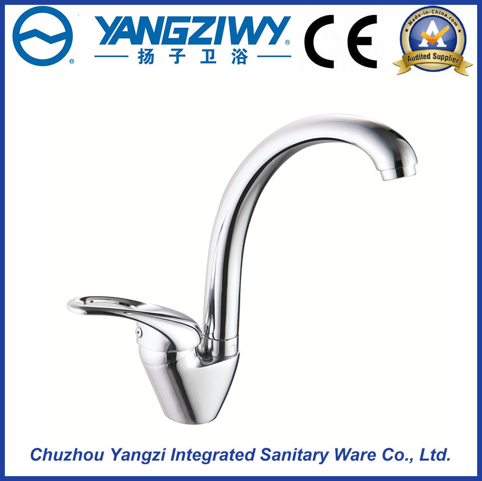 Yz5639 Brass Waterfall Bathroom Kitchen Faucet with Ce Approved