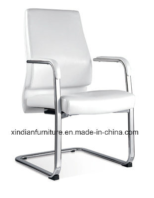 Xindian Fashion Design White PU Fixed Office Chair (D9045)