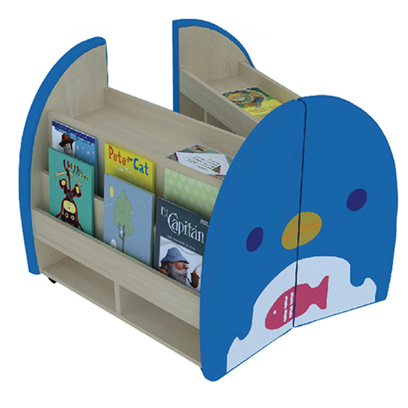 Cartoon Style Bookshelf Children Furniture