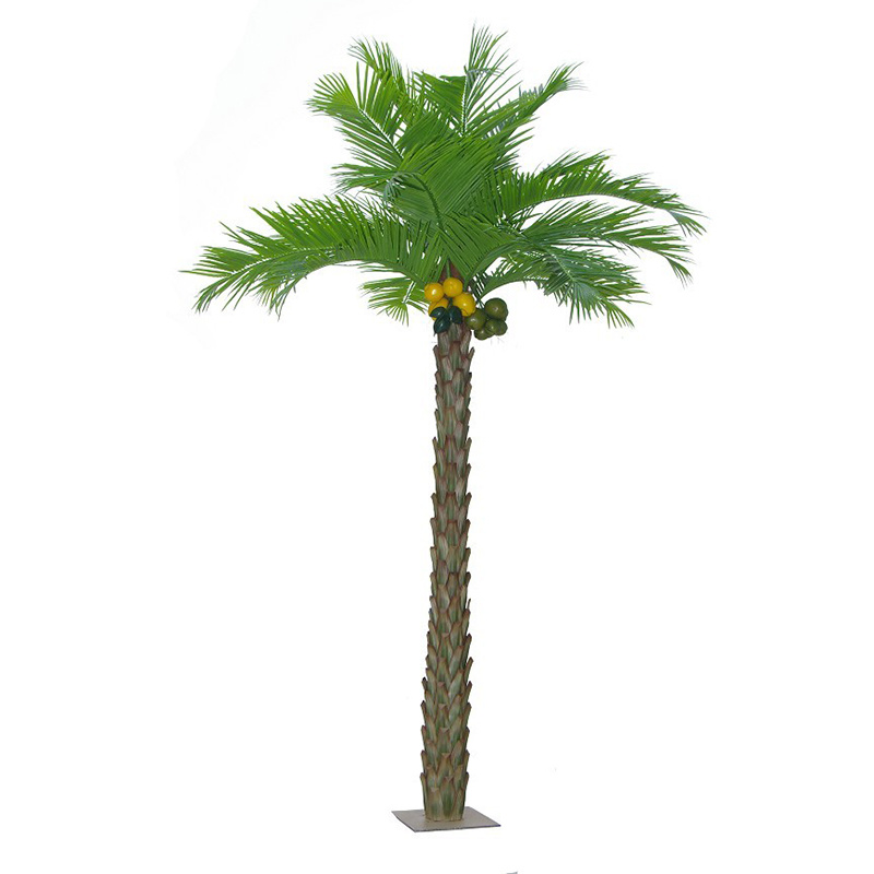 Garden Home Decoration Wholesale Plastic Outdoor Artificial Coconut Palm Tree