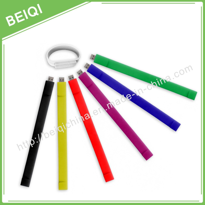 Customized Design Colorful Silicone Wristband USB