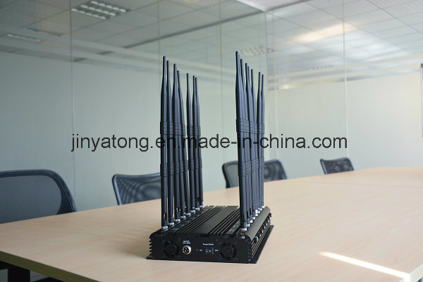 High Power 16 Antennas All-in-One Adjustable All Frequencies Cell Phone Signal Jammer