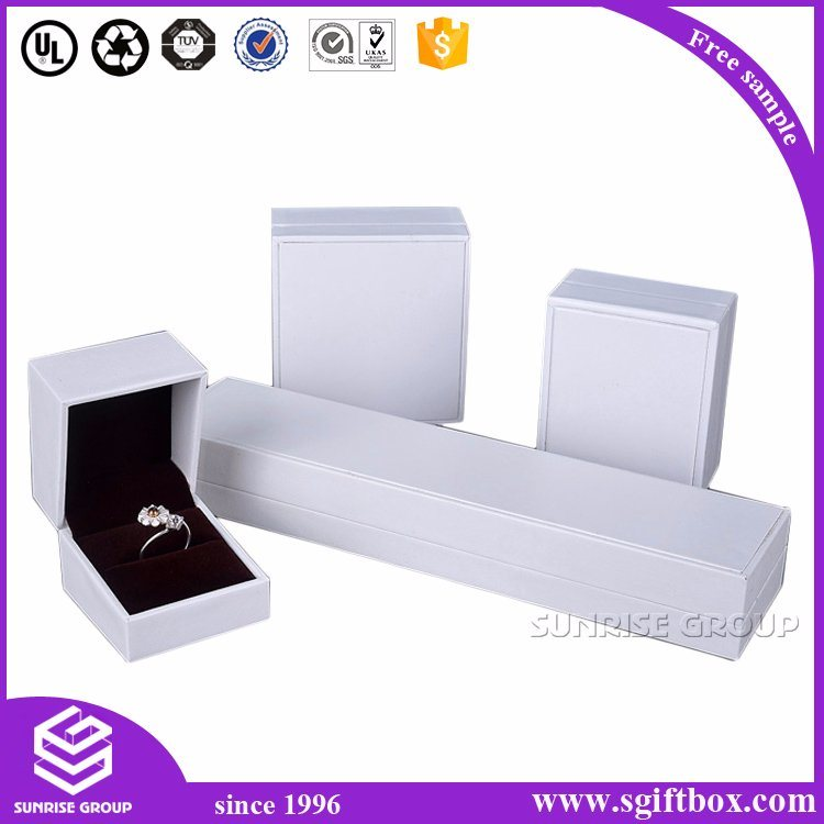 High-End Custom Gift Velet Leather Perper Jewelry Gift Box