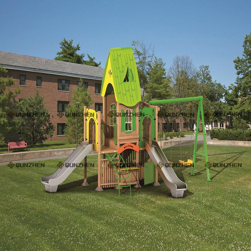 Special Design Wooden Plastic Children Indoor/Outdoor Playground