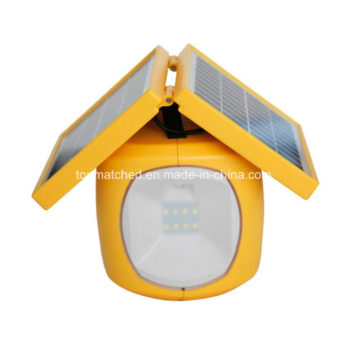 LED Solar Rechargeable Lantern LED Emergency Solar Lantern with Mobile Phone Charger