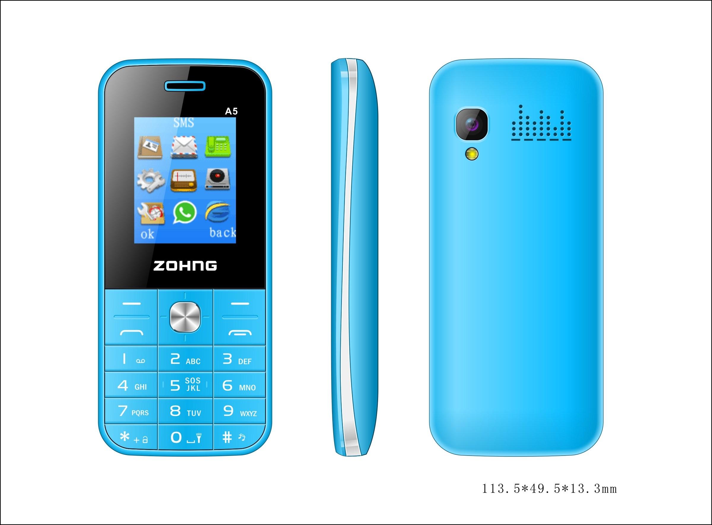 OEM Feature Phone 1.8inch Dual SIM GSM Cheap Bar Mobile Phone A5
