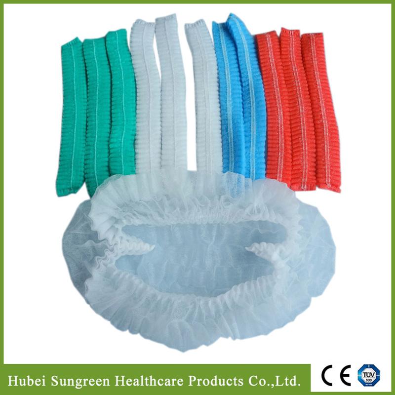 Disposable Non-Woven Clip Cap, Mob Cap, Bouffant Cap, Surgical Cap, Doctor Cap