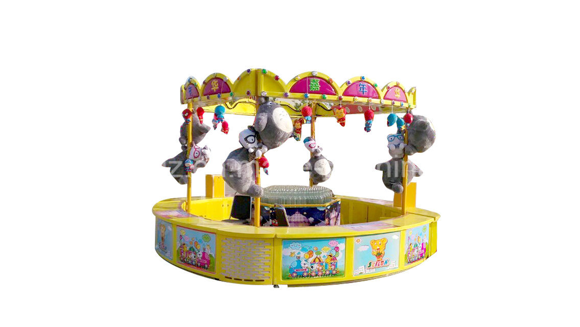 Throwing The Ring to Lasso The Bottle Carnival Game Machine