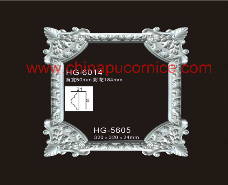 Polyurethane Elegant Corner for Interior Room Decoration