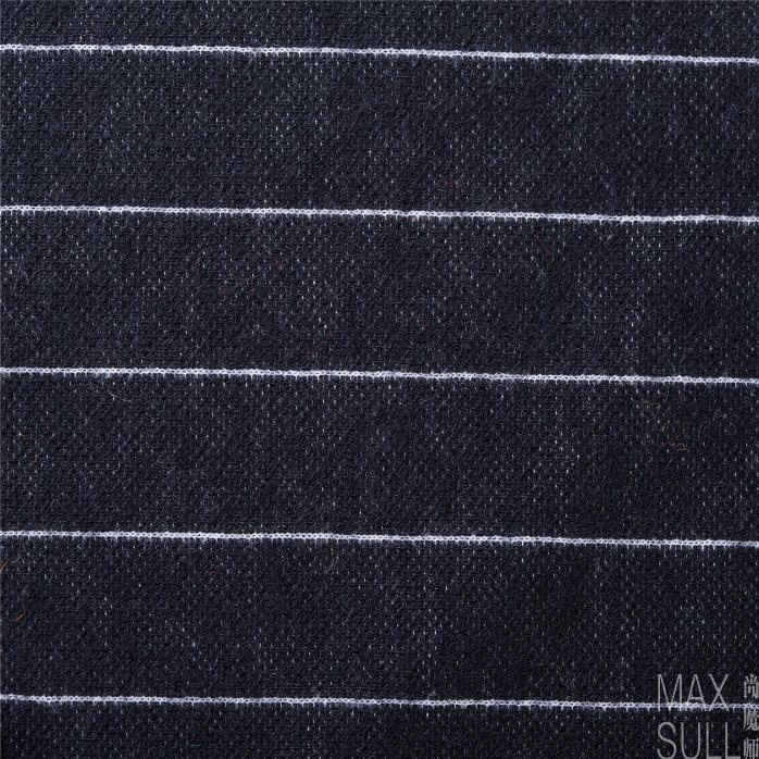 Jacquard Weave, Wool and Polyester Mixd Fabrics in Black and White for Autumn