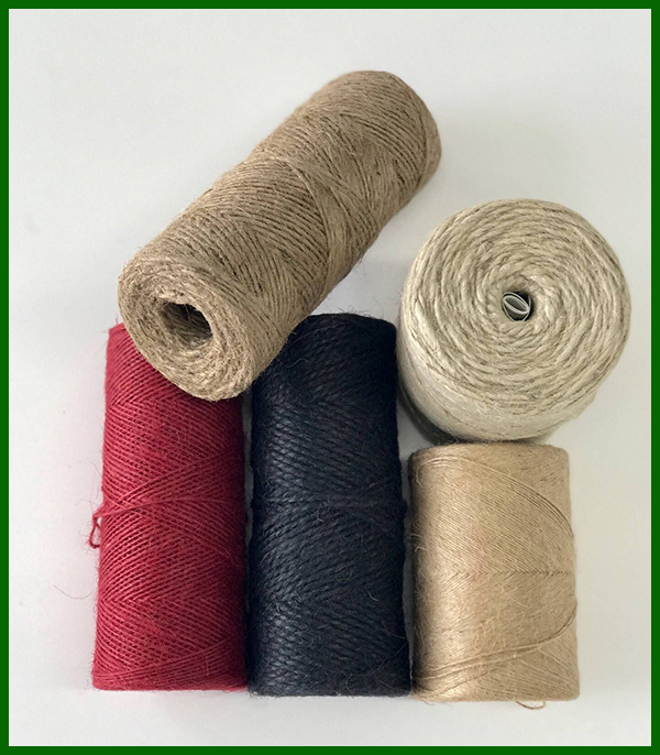 Dyed Jute Fiber Yarn (Black)