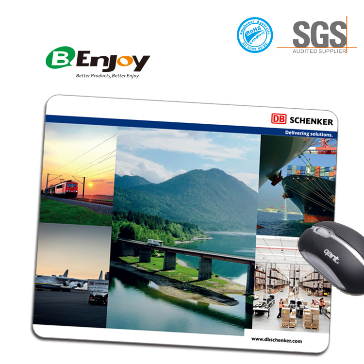 Rubber Mouse Pad with Full Color Printing Cloth Surface