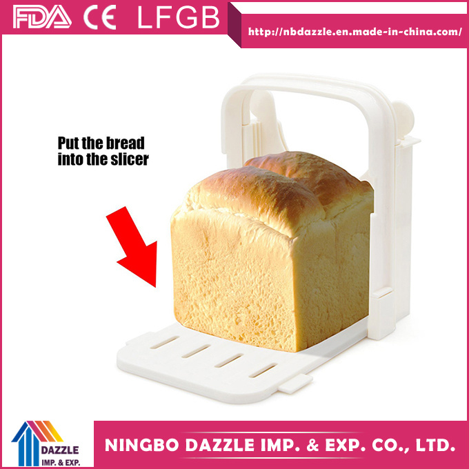 Wholesale Folding Adjustable Bakery Home Bread Slicer with 5 Slice Thicknesses