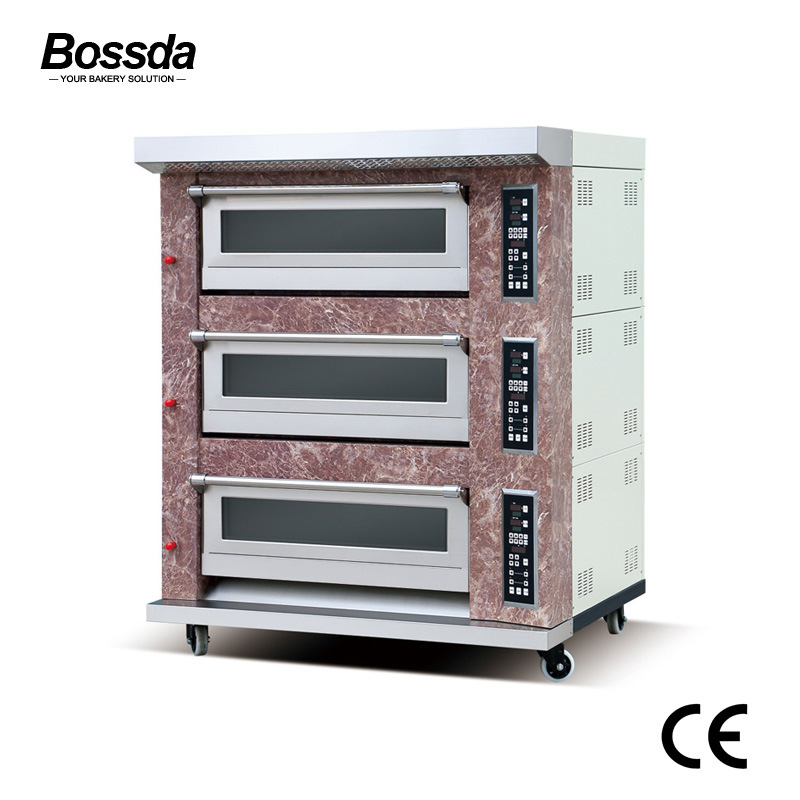Hot Sale Food Equipment Gas Bread Pizza Deck Oven for Bakery with Ce