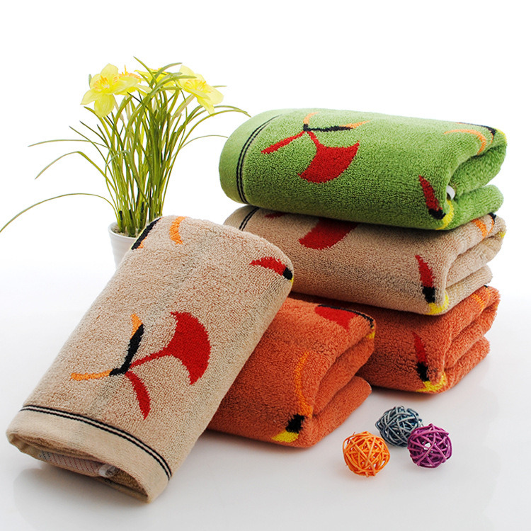 Factory Wholesale 100% Cotton Terry Custom Printed Face Hand Towel