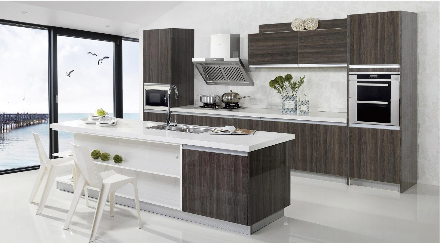Modern UV High Glossy Kitchen Cabinet