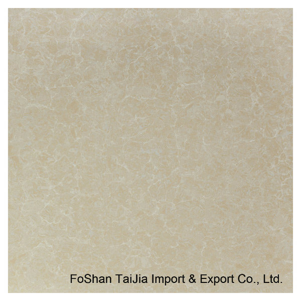 600X600mm Building Materials Yellow Pilate Polished Porcelain Floor Tile (TJ6202)