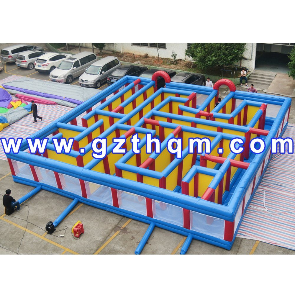 Giant 10m Kids Play Game Inflatable Maze/Outdoor Inflatable Maze Inflatable Obstacle Course