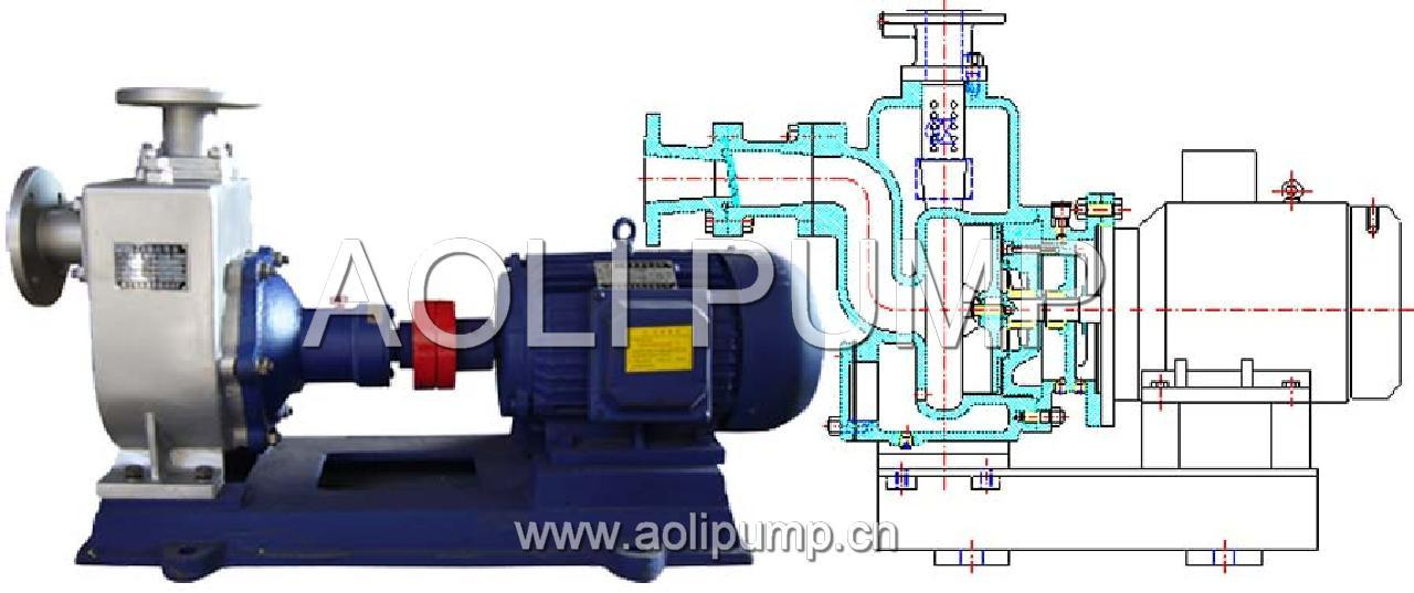 Zw Stainless Steel Sewage Self Primming Centrifugal Pump